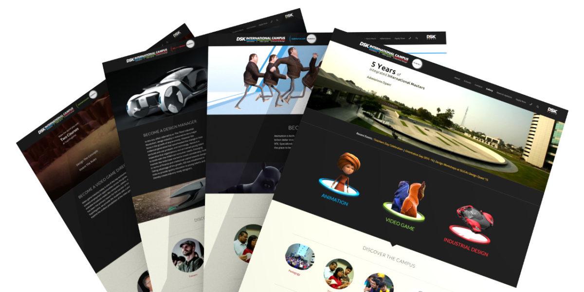 DSK International Campus — UI / Website Redesign
